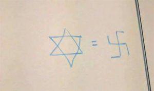 צלב קרס התגלה באוניברסיטה העברית